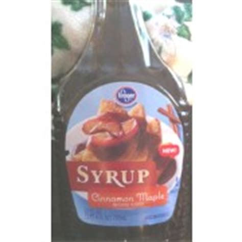 Kroger Bloomfield Maple by Kroger Syrup Cinnamon Maple Calories Nutrition Analysis