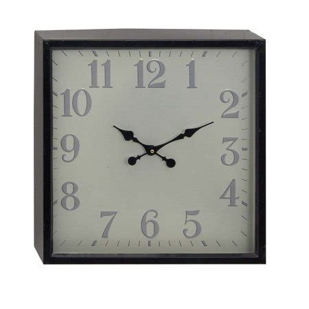 decmode modern iron square analog wall clock light violet