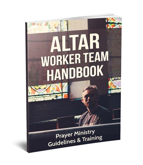 altar worker training manual prayer team guidelines