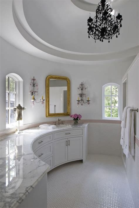 curved bathroom transitional bathroom thompson