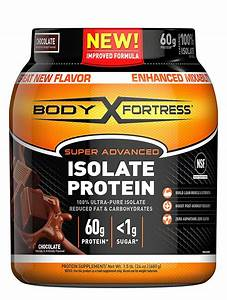 Body Fortress Super Advanced Whey Protein Isolate Powder  Gluten Free  Chocolate  1 5 Lbs