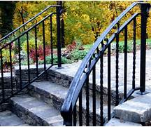Outdoor Metal Handrails For Stairs by Railings For Stairs Exterior Outdoor Wrought Iron Railings Balusterandbal