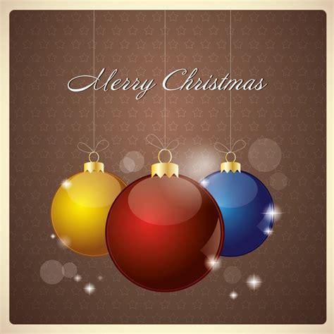 balls  decorate  christmas tree vector