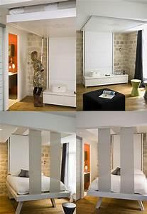Lit Escamotable Plafond : bedup le lit escamotable qui grimpe au plafond ~ Premium-room.com Idées de Décoration