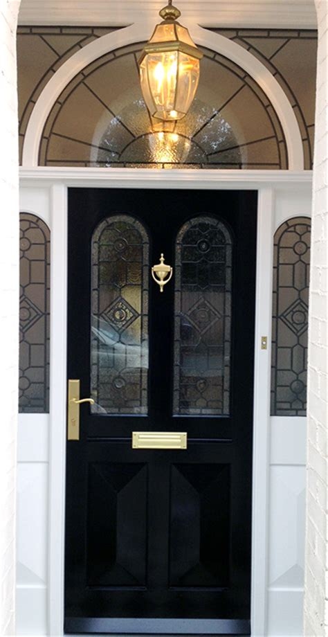 grand victorian doors  stained glass  english doors