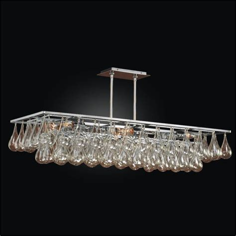 large rectangular chandelier glass chandelier genesis