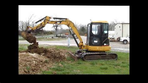 caterpillar cr mini excavator  sale sold  auction    youtube