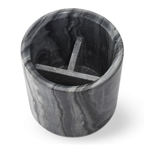 Grey Marble Partitioned Utensil Holder   Williams Sonoma