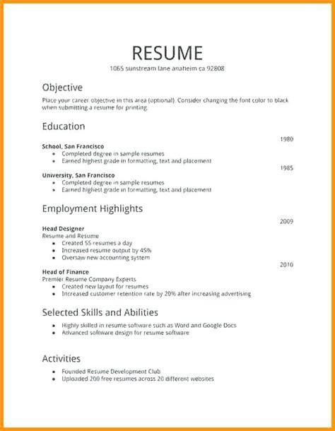 resume templates  job