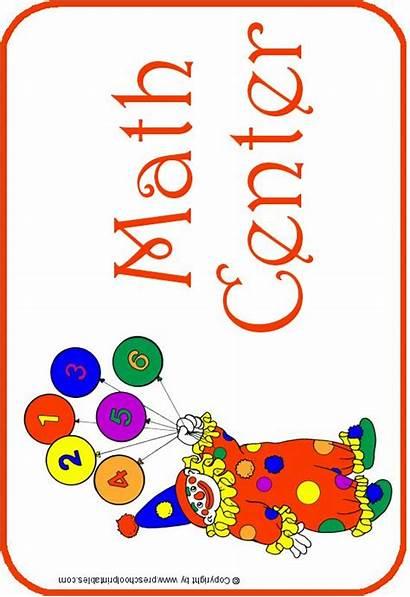 Center Math Signs Clipart Sign Preschoolprintables Library