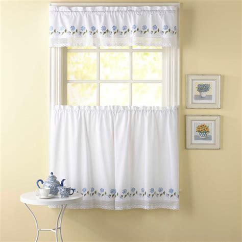 Walmart Kitchen Tier Curtains by Chf You Leighton Tailored Tier Curtain Panel Set Of 2