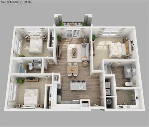 Small Condo Kitchen Ideas - solis apartments floorplans waverly