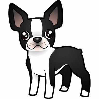 Terrier Boston Cartoon Dog Cutout Clipart Cut