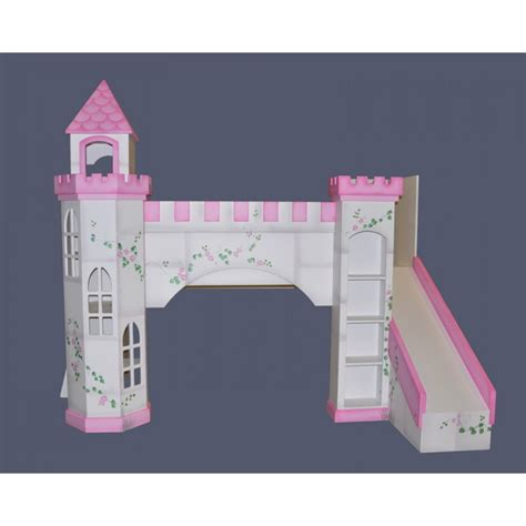 Bedroom. Alluring Castle Bunk Beds With Slide And Stairs