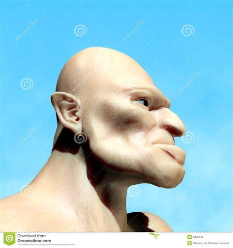 ugly man stock illustration image  torso profile