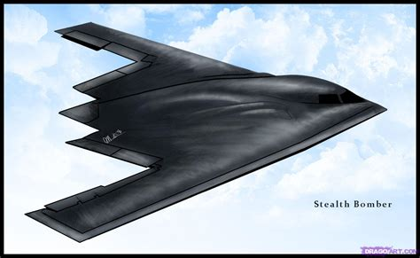 Drawing A Stealth Bomber Added By Dawn November 21 2008