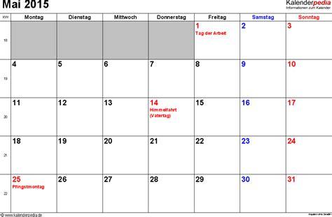 kalender mai als excel vorlagen