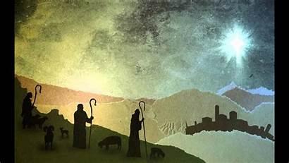 Christmas Worship Backgrounds Background Shepherds Angels Field