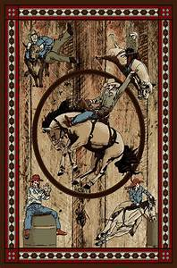 (MR-AD6078-8X10) ''Rodeo'' Western Area Rug - 7'10'' x 9'10''