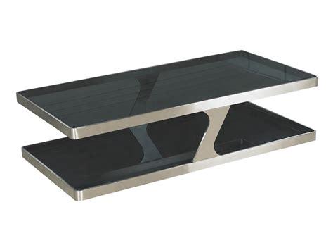 couchtisch designer designer couchtisch chrom metall glas schwarz living couchtisch