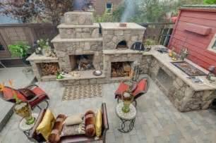 pizzaofen gartenküche selber bauen grillplatz essplatz outside paradies - Gartenküche Mauern
