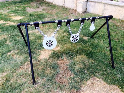 diy steel target holder welded swivel hinges shooting targets steel targets