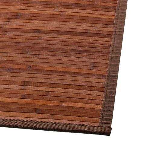 tapis en bambou quot latte quot 120x170cm chocolat