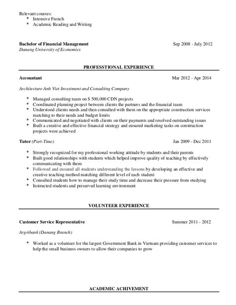 Td Resume by Resume Td Bank Thao Le 1