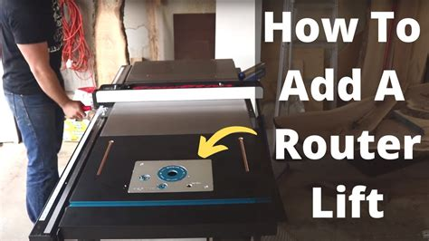 adding  router lift  table  extension wing diy