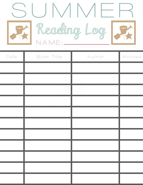 Summer Reading Log + Earn Free Books  Sarah Halstead