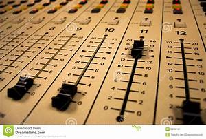 Sound Board Sliders Royalty Free Stock Image