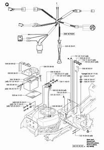 Husqvarna Rider 155 Awd  965080001  Ride On Mower Electrical Spare Parts Diagram