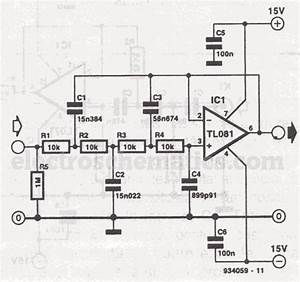 Audio Filters Circuits Projects