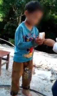 china viral video shows boy  shackled  chains