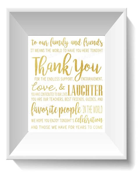 wedding    friends  family quote gold