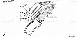 Honda Motorcycle 2019 Oem Parts Diagram For Rear Fender