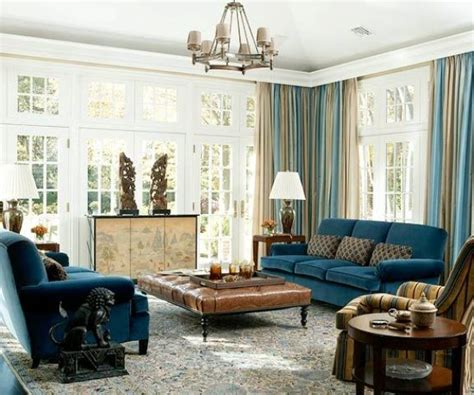 33 Cool Brown And Blue Living Room Designs