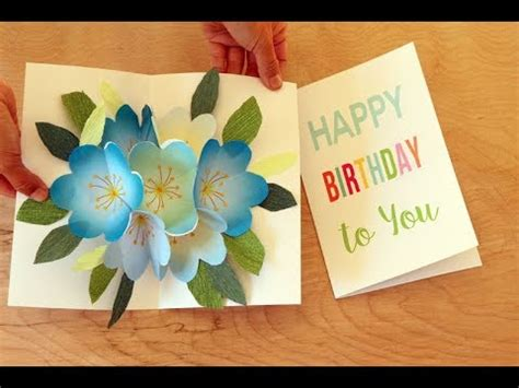 pop  bouquet easy diy birthday card  mothers day