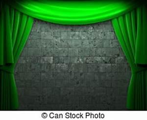 Rideau Velours Vert : rideau vert velours sc ne ouverture fait velours ouverture sc ne rideau vert 3d ~ Teatrodelosmanantiales.com Idées de Décoration
