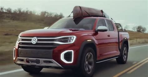 volkswagen atlas tanoak pickup truck news design