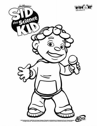Science Coloring Sid Kid Pages Lab Drawing