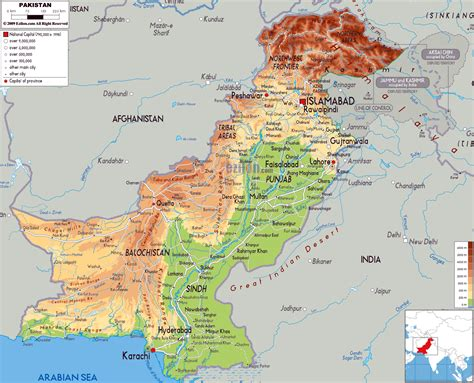 maps  pakistan detailed map  pakistan  english