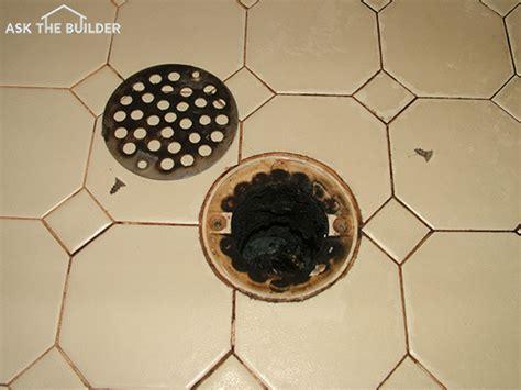 shower drain odor   builder