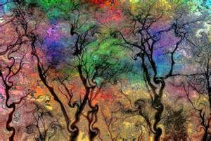 Psychedelic Nature Art Tree