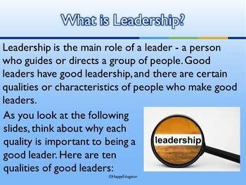 leadership ten qualities   good leader powerpoint