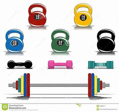 Equipment Fitness Colorful Clipart Gym Clip Exercise