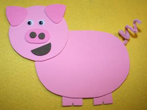 Pig Template For Preschoolers by Farm Crafts For All Network