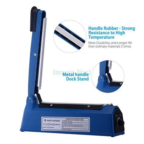mm manual impulse heat sealer poly bag machine shrink wrap  element ebay