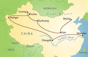 Ancient China Silk Road Route Map