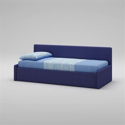 canapé de couleur lit canapé recouvert de tissu couleur bleu